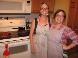 sisters in aprons