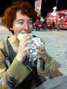 cassie in burrito bliss