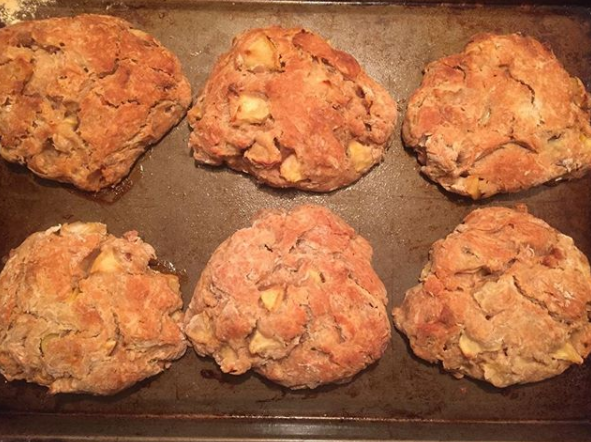 honey-pecan & apple scones